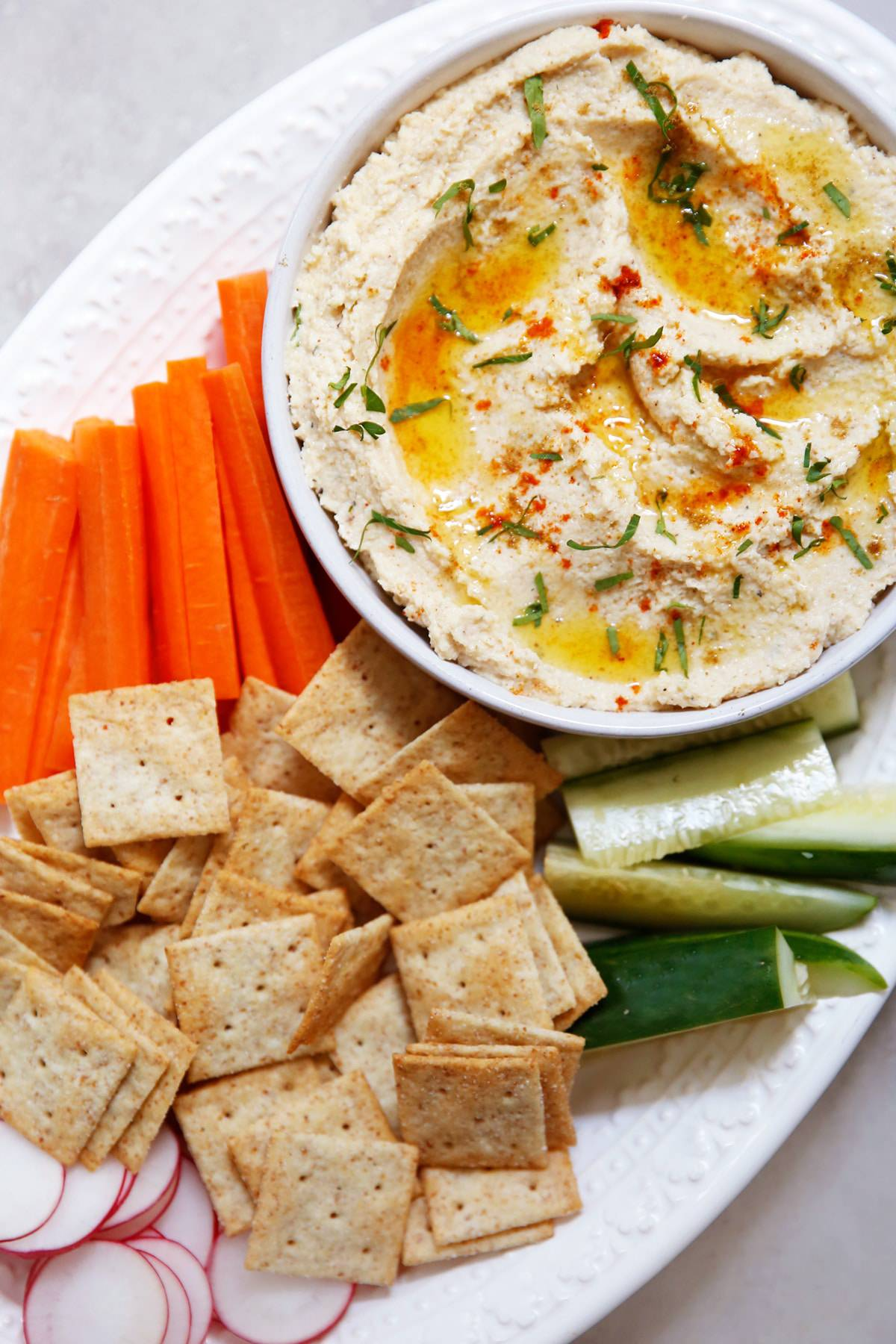 Easy cauliflower hummus