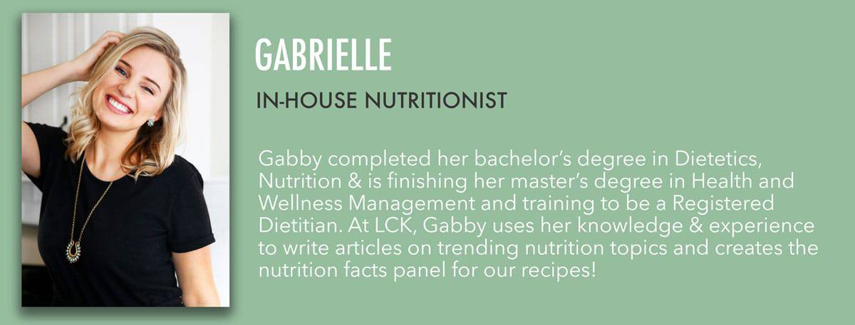 Gabby - In-House Nutritionist Bio