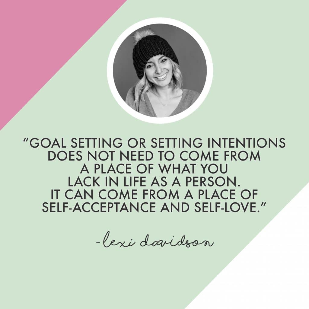 Lexi Davidson Quote on Setting Goals
