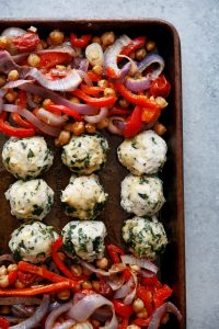 Sheet Pan Greek Meatballs