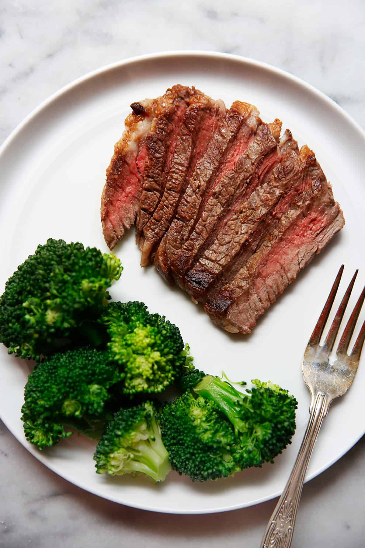 Pan seared steak with butter