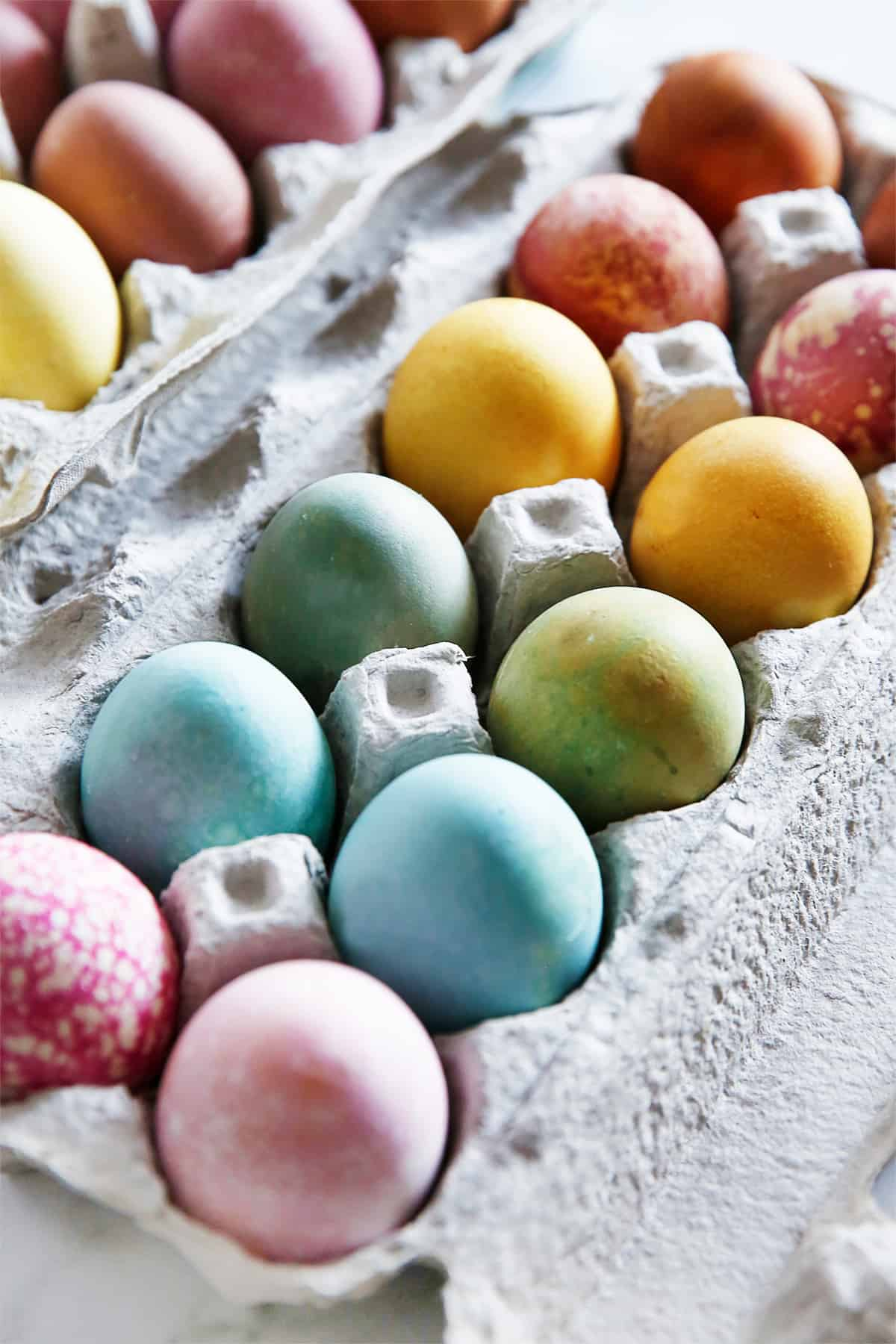 Results of natural Easter egg dye recipe