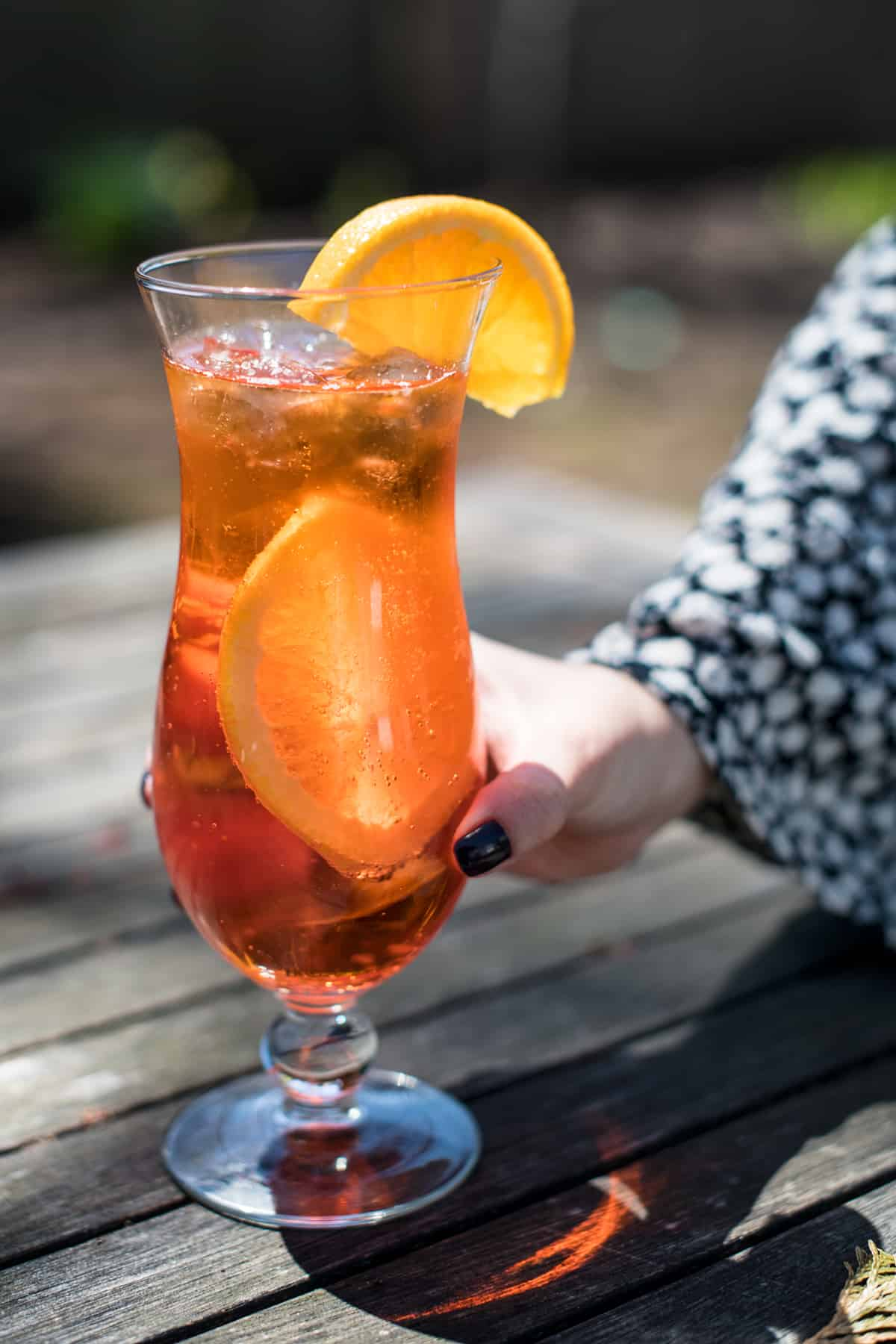 Full glass of my Aperol Spritz recipe