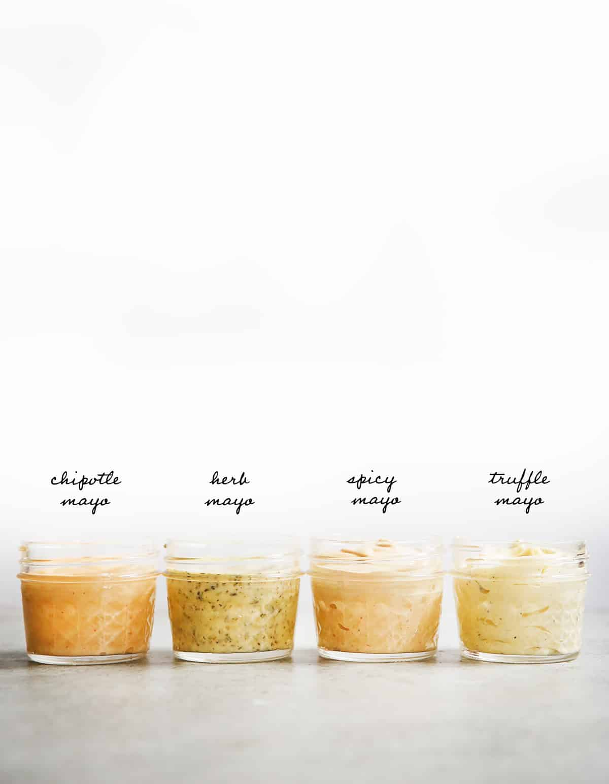Flavor variations of paleo mayo
