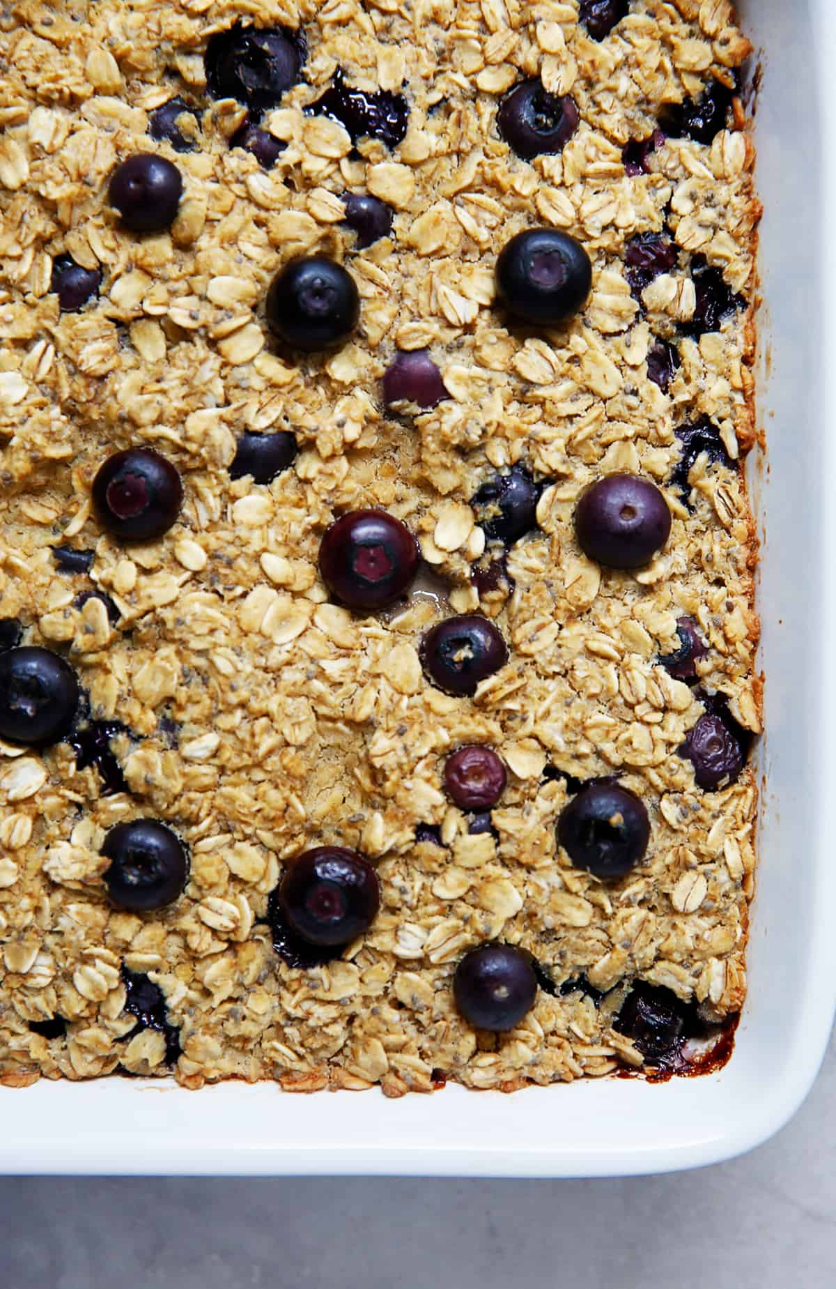Maple Blueberry Baked Oatmeal