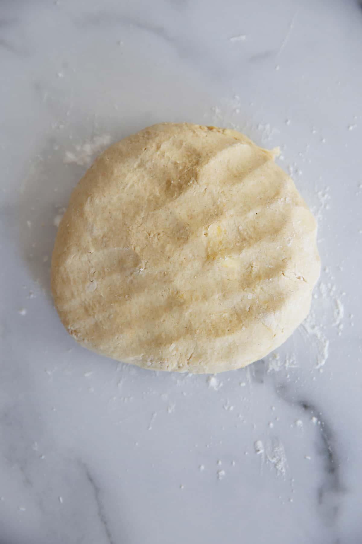 Oat Flour Pie Crust Dough