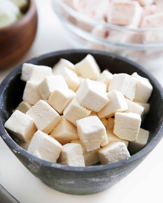 Cubes of Paleo Marshmallows