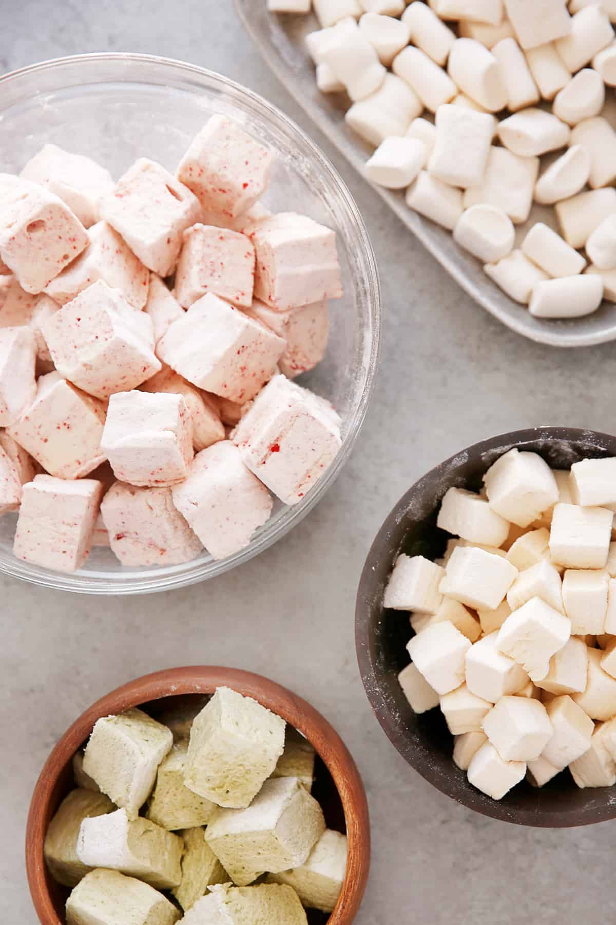 Different marshmallow flavors