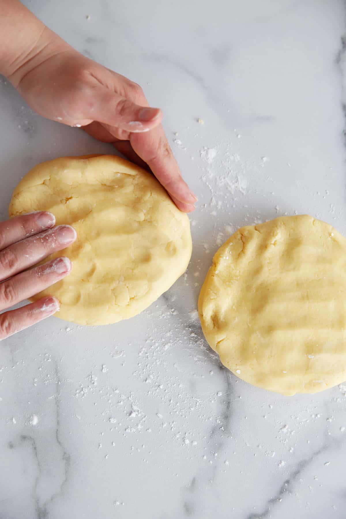 Gluten free pie crust disks