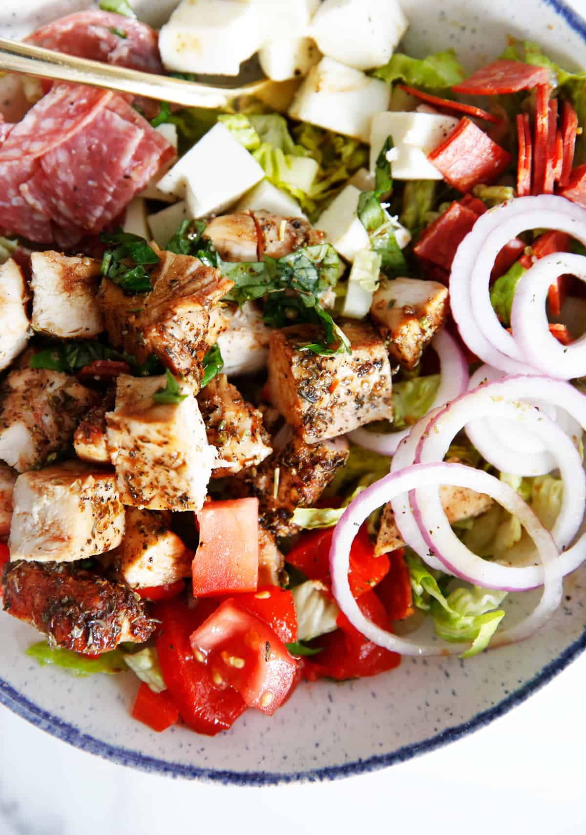 Chopped Antipasto Salad with Chicken