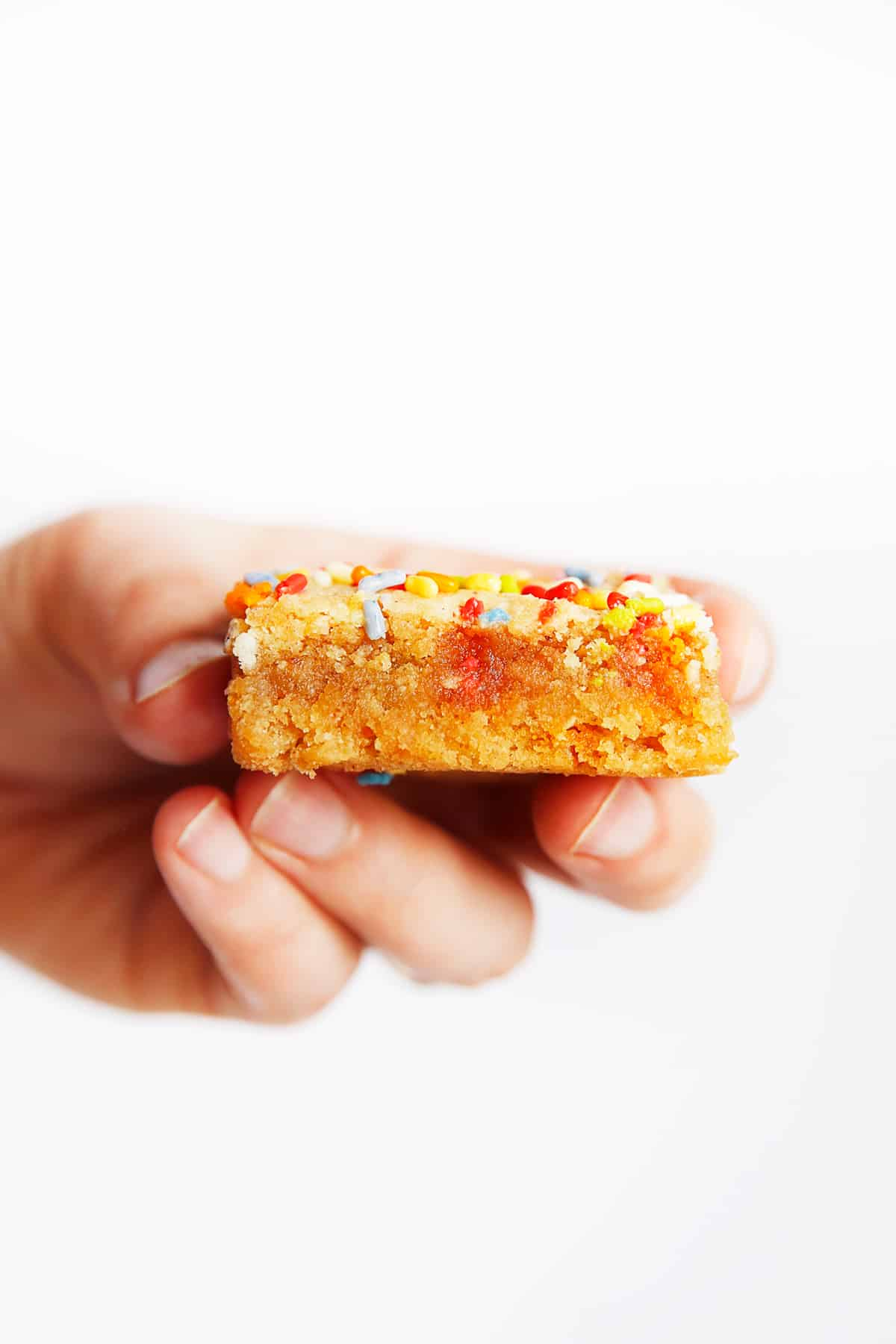 chewy paleo blondies with sprinkles