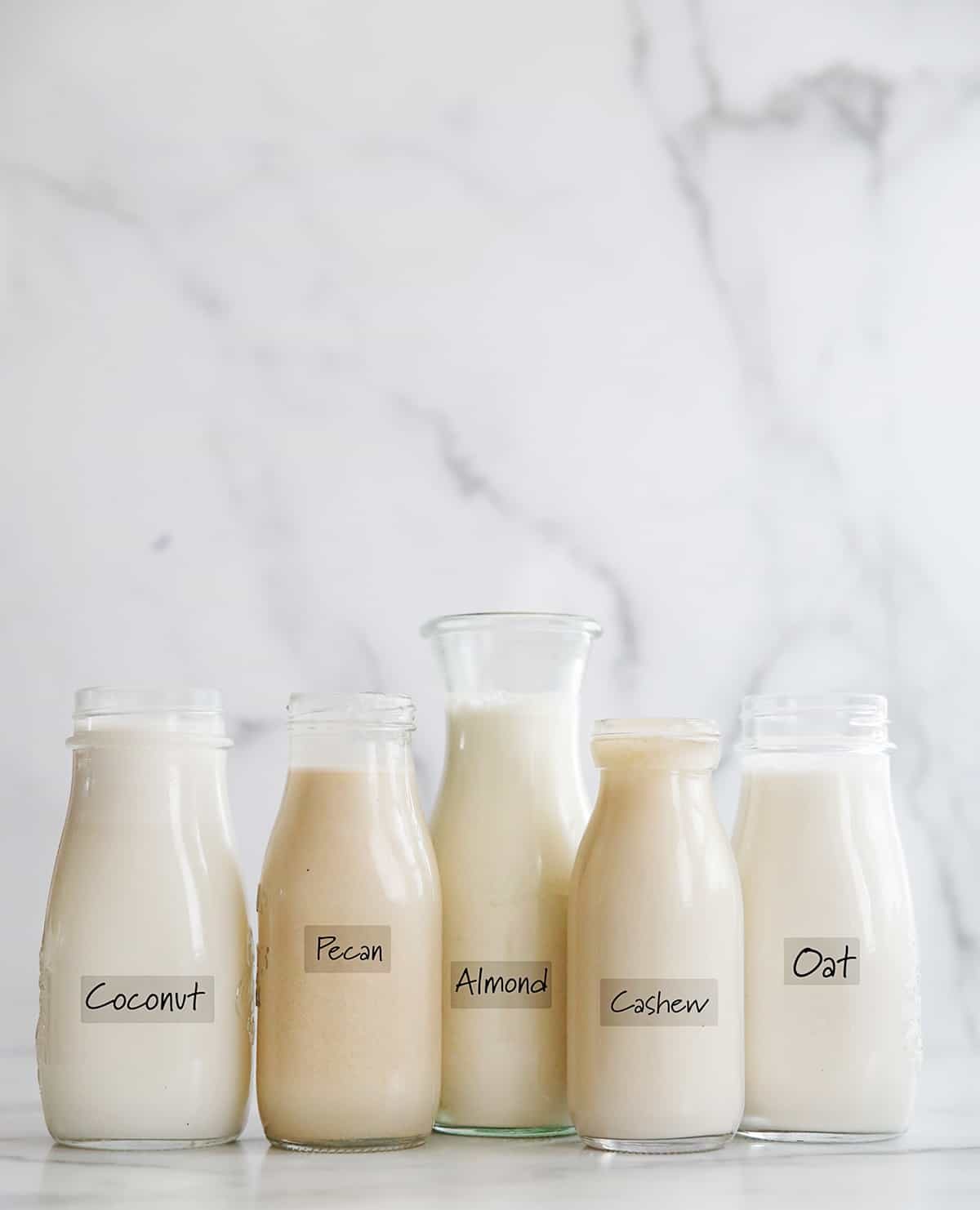 lineup of dairy free milk