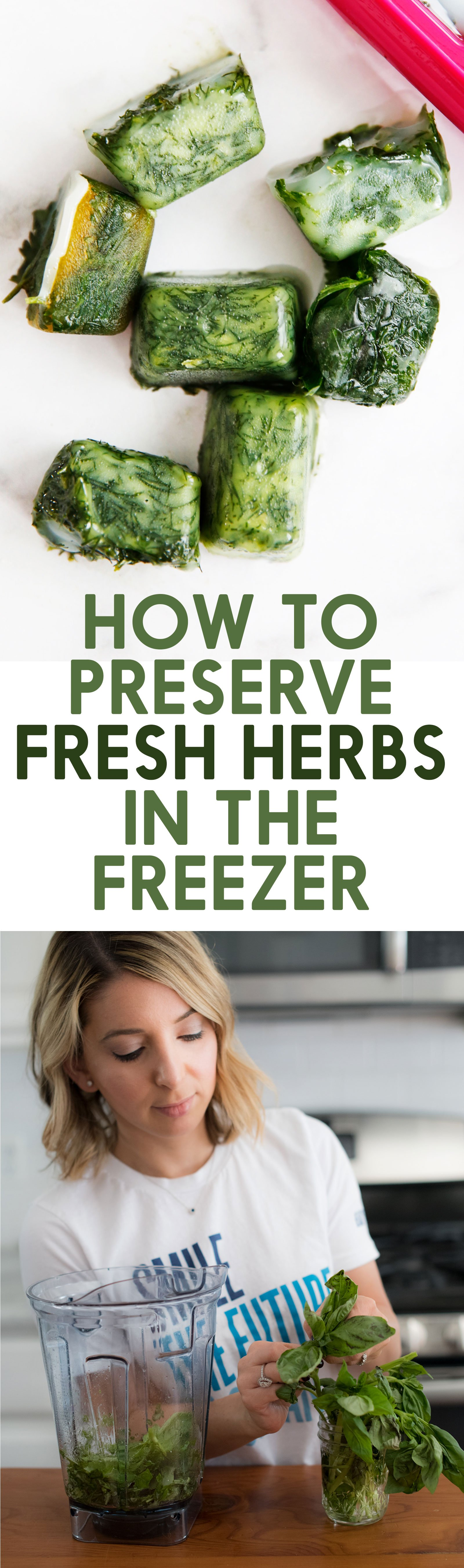How to Preserve Fresh Herbs in the Freezer
