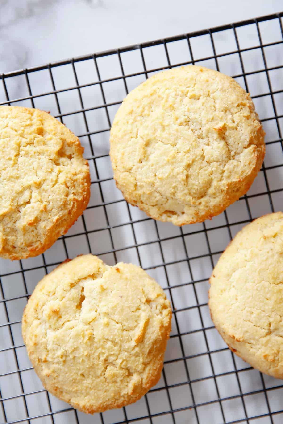 gf biscuits on a cooling rack