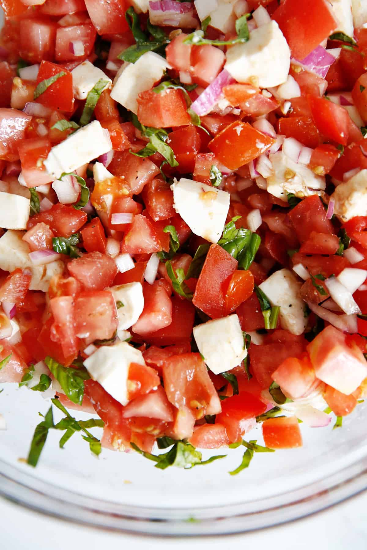 bowl of bruschetta