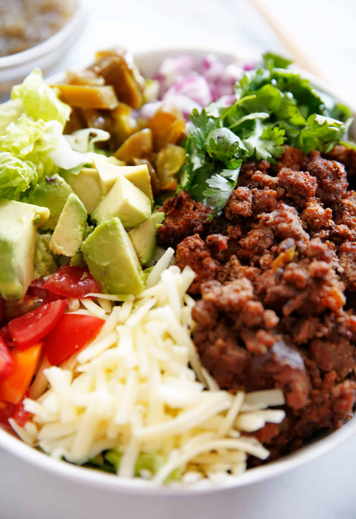 bowl of clean eating taco salad