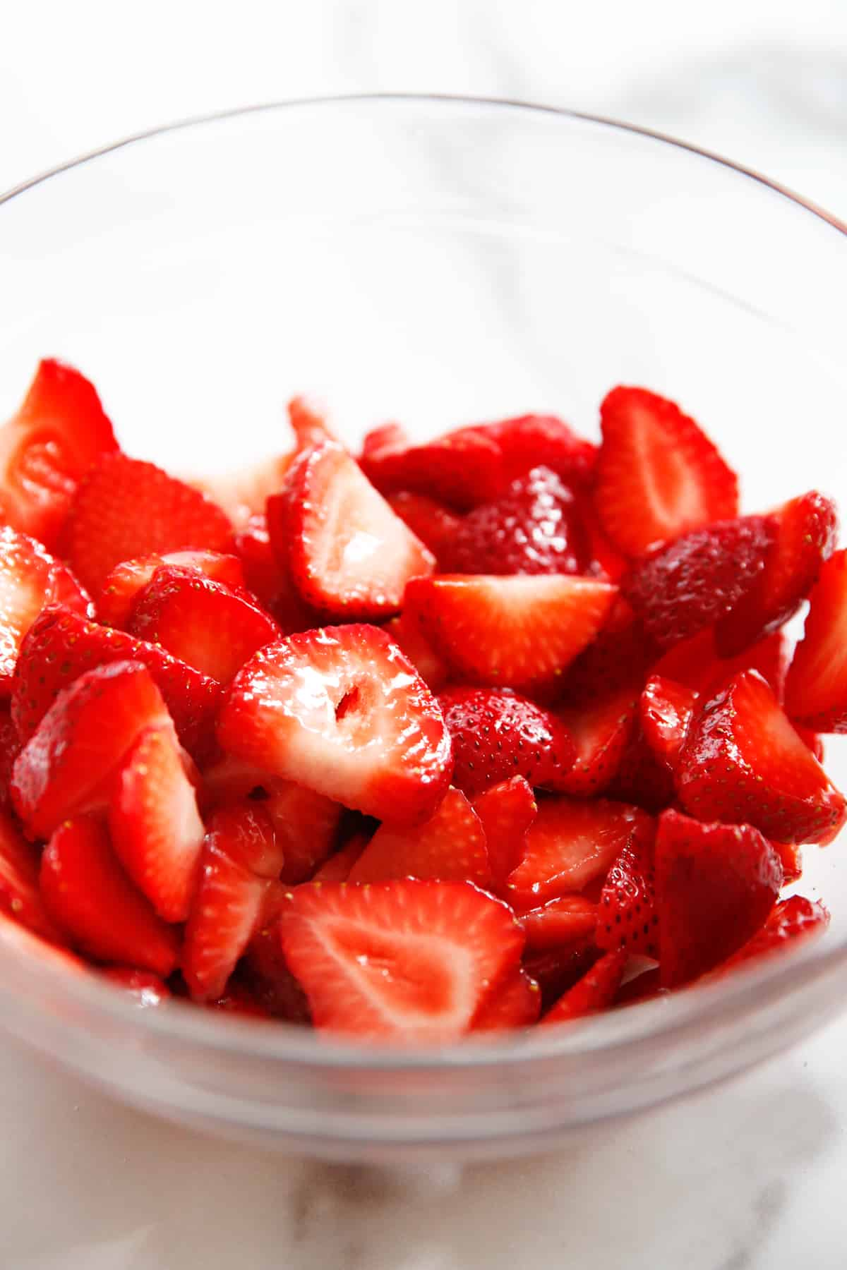 macerated strawberries for gluten free shortcake