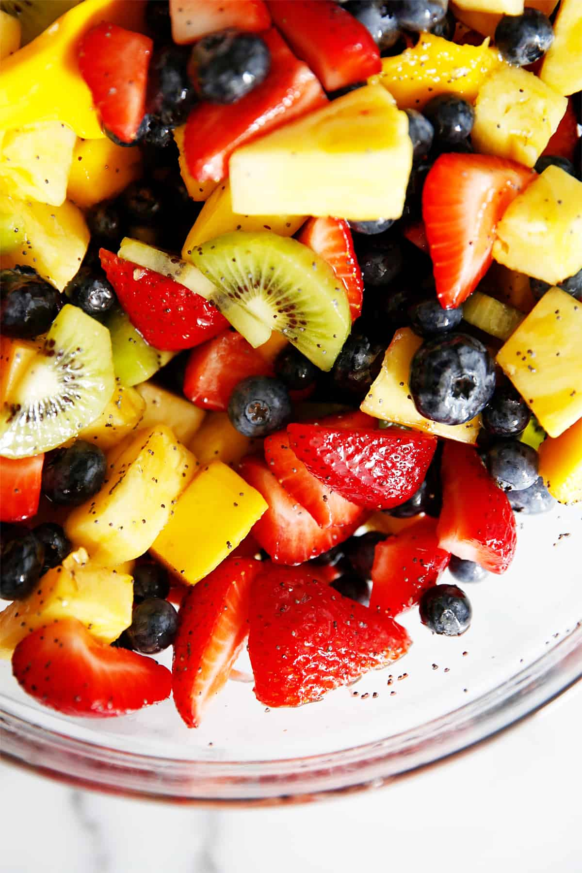 Fruit bowl recipe with honey and lime
