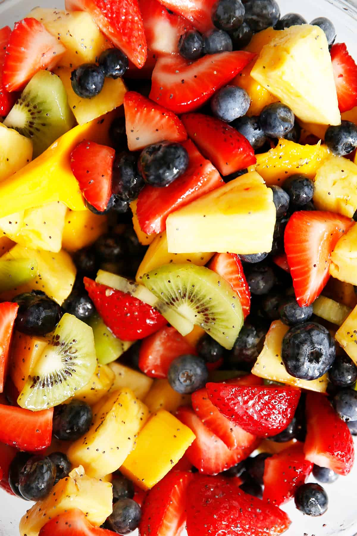 Chia Honey Lime Fruit Salad