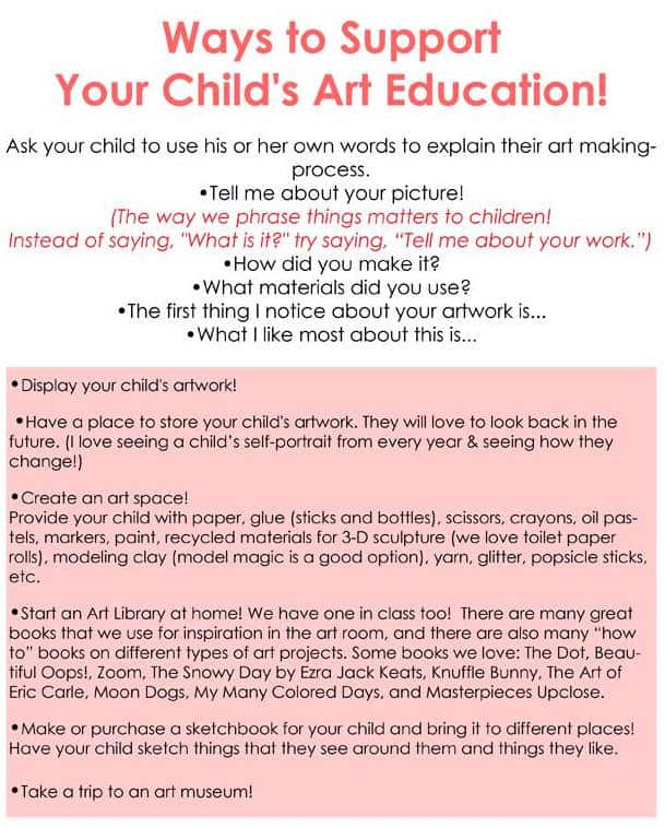 Ways to support your child's art education