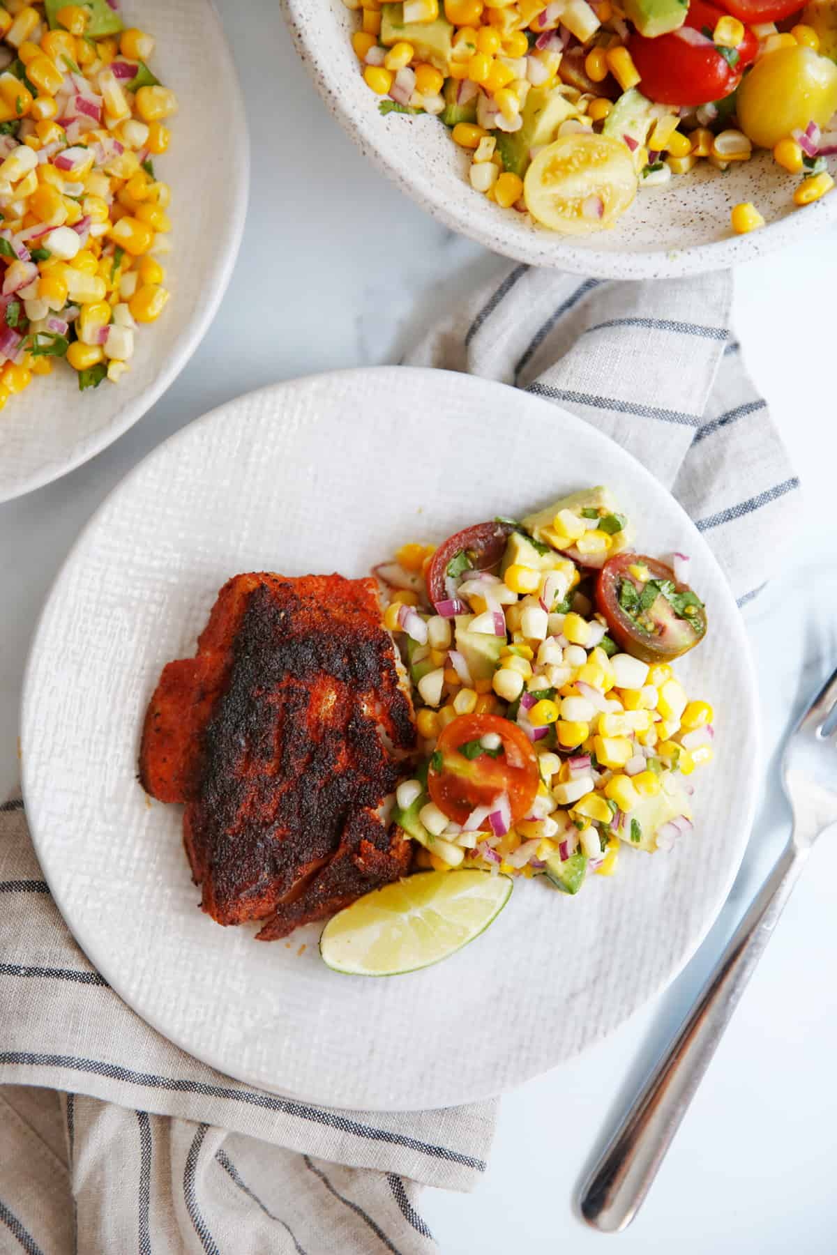 Blackened Fish recipe on a plate