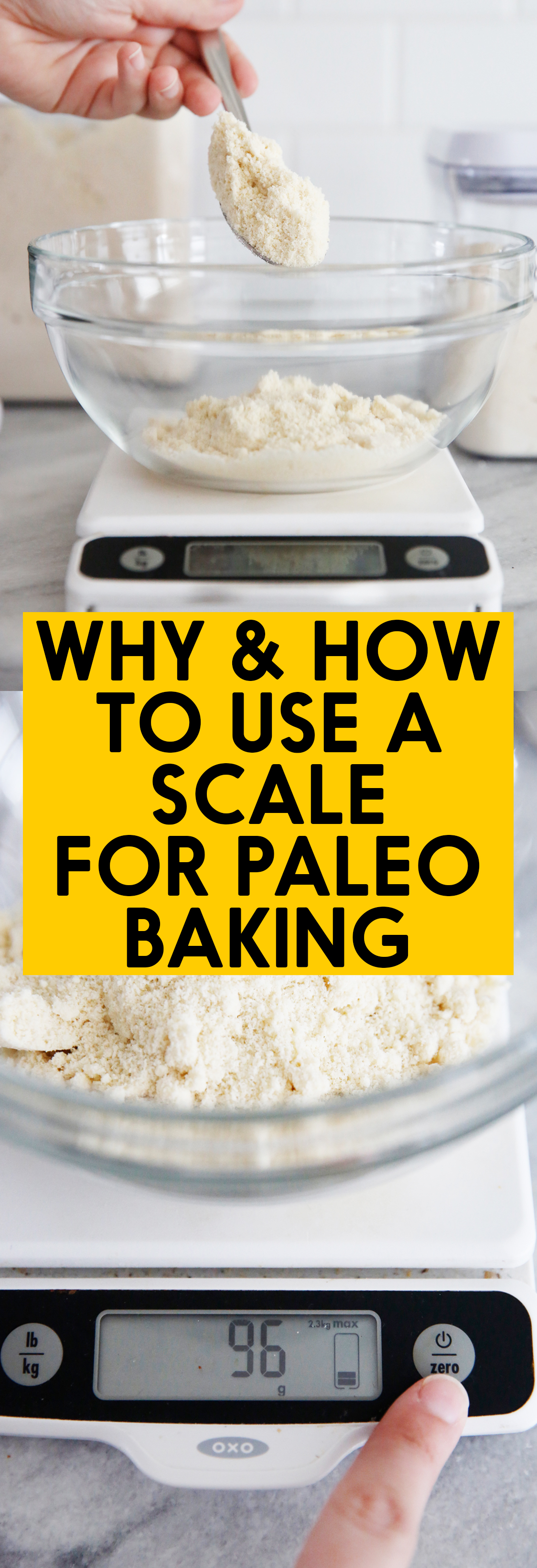 Using a scale for baking