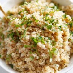 Herb and Garlic Quinoa