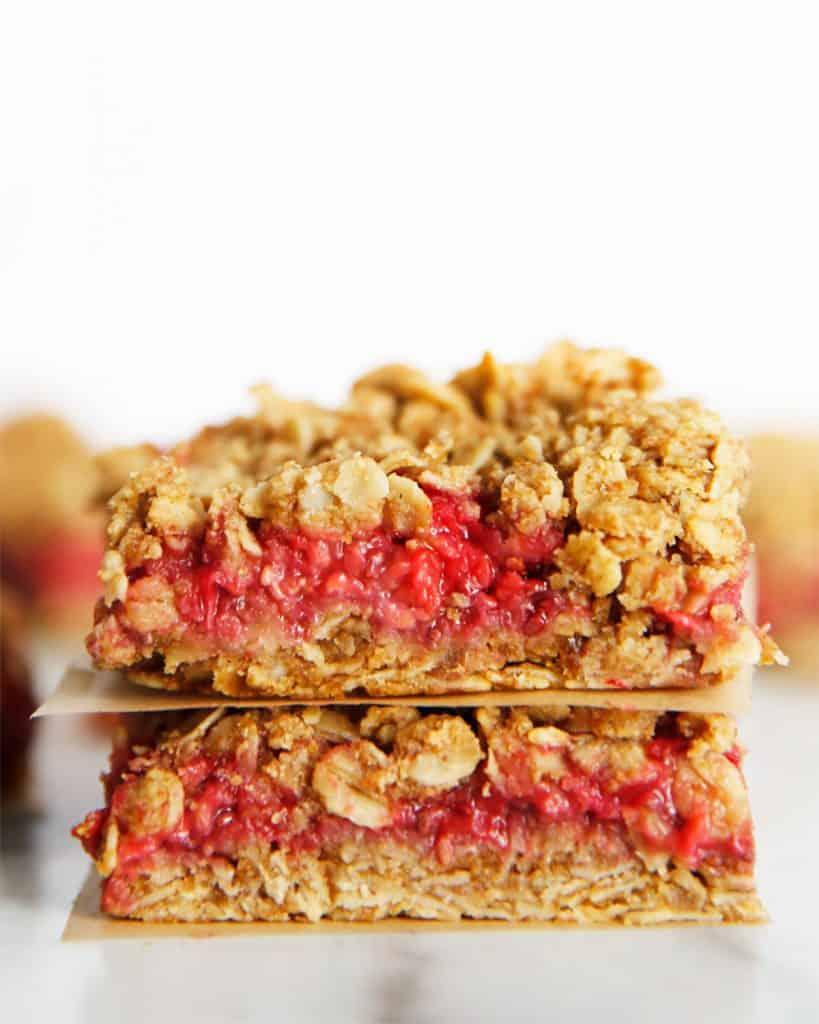 Raspberry Oat Breakfast Bars Lexi S Clean Kitchen