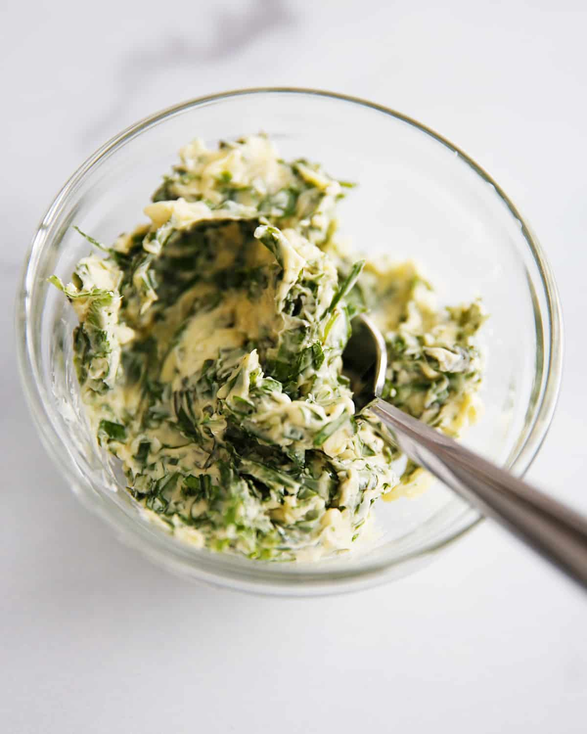 herb compound butter in a bowl