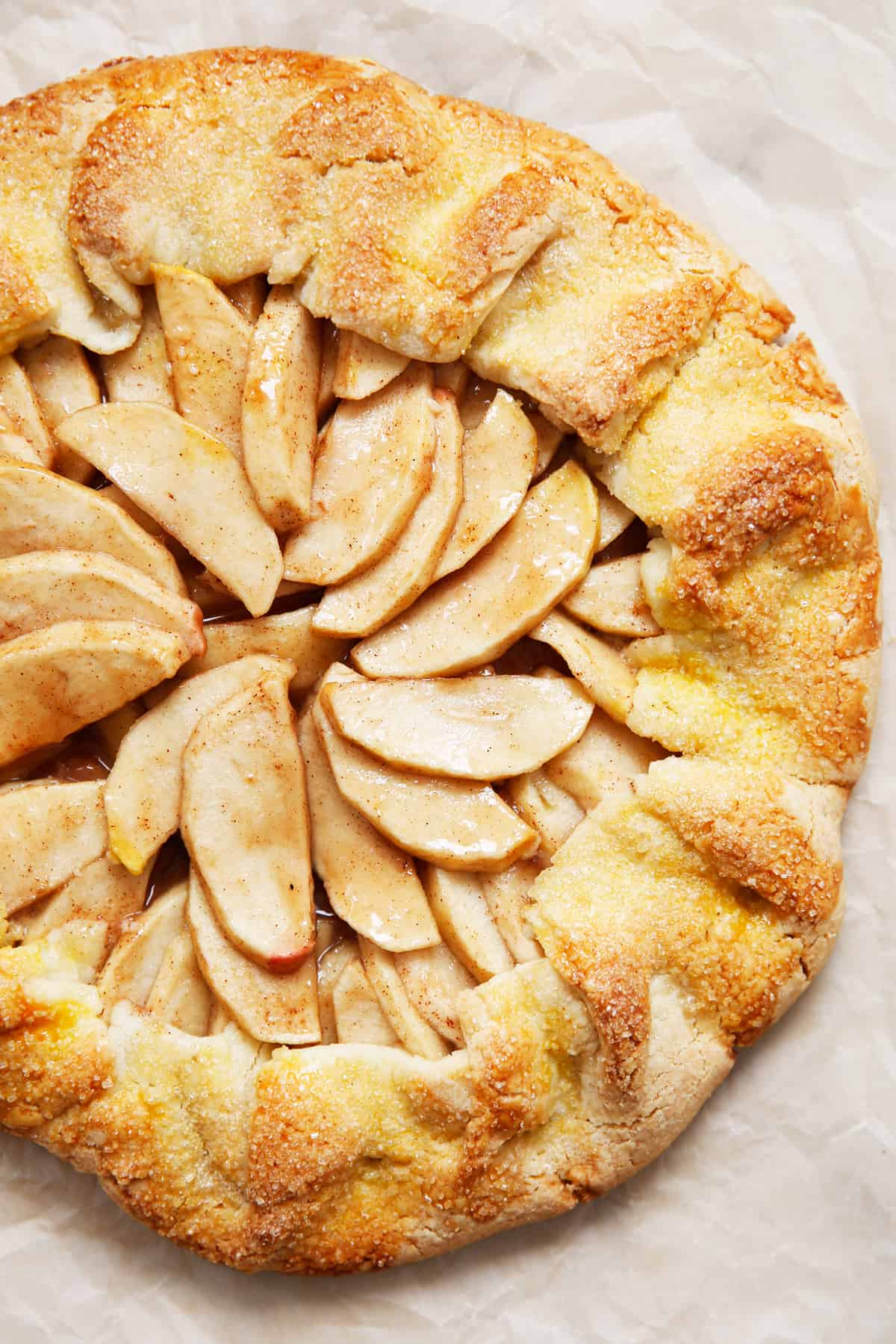 A whole gluten free apple galette
