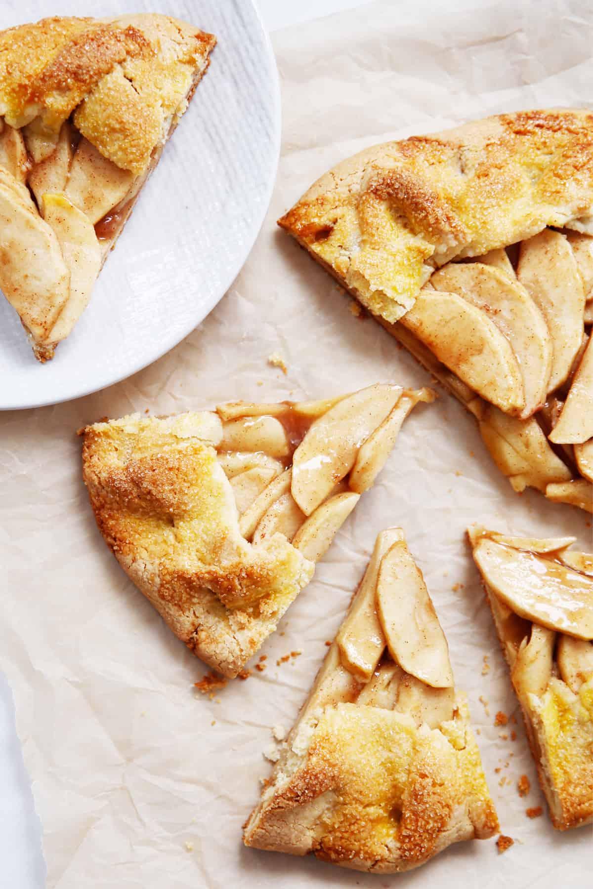 paleo apple dessert for fall sliced up