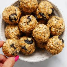 PB and J Oatmeal Energy Balls