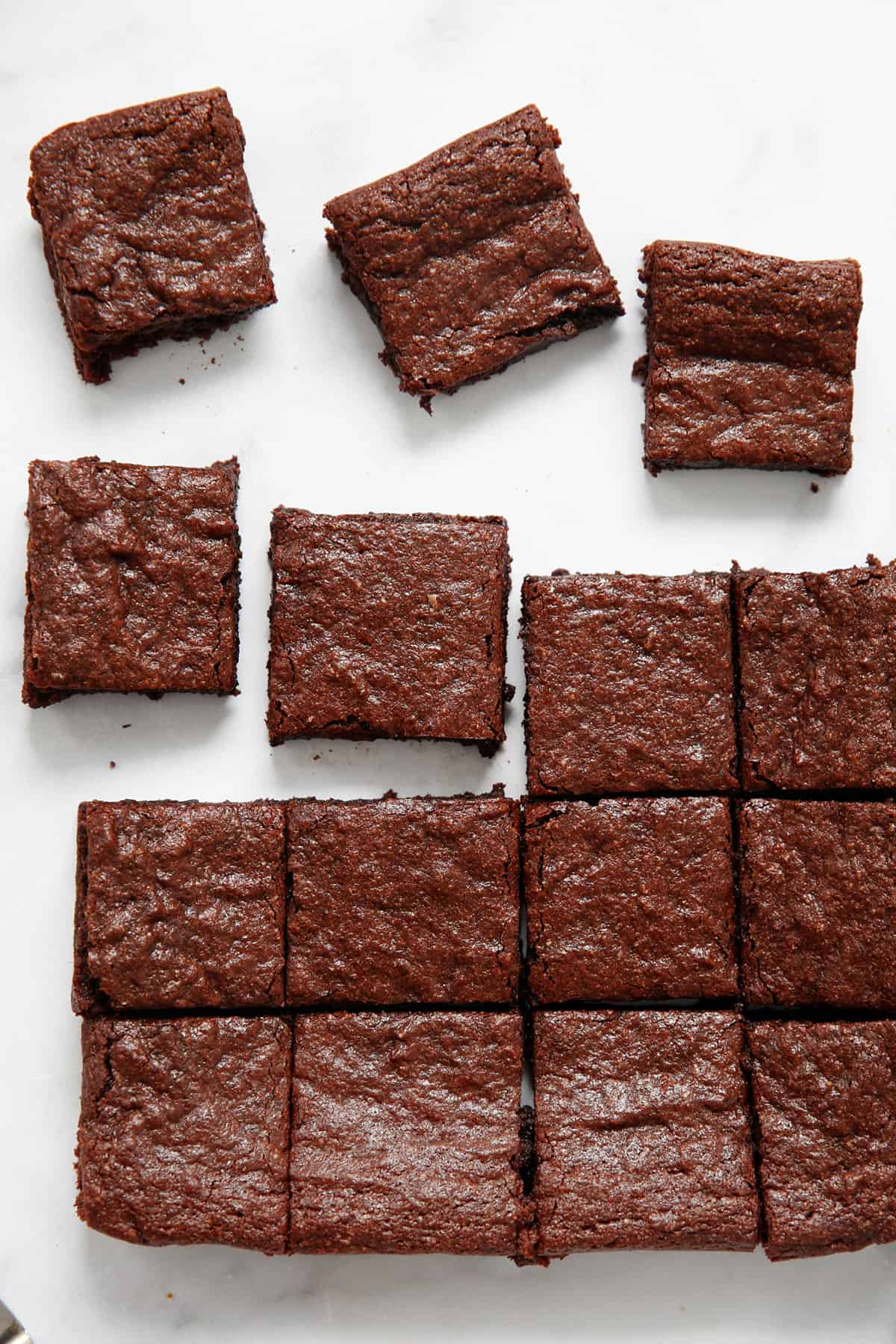 Neat squares of paleo brownies