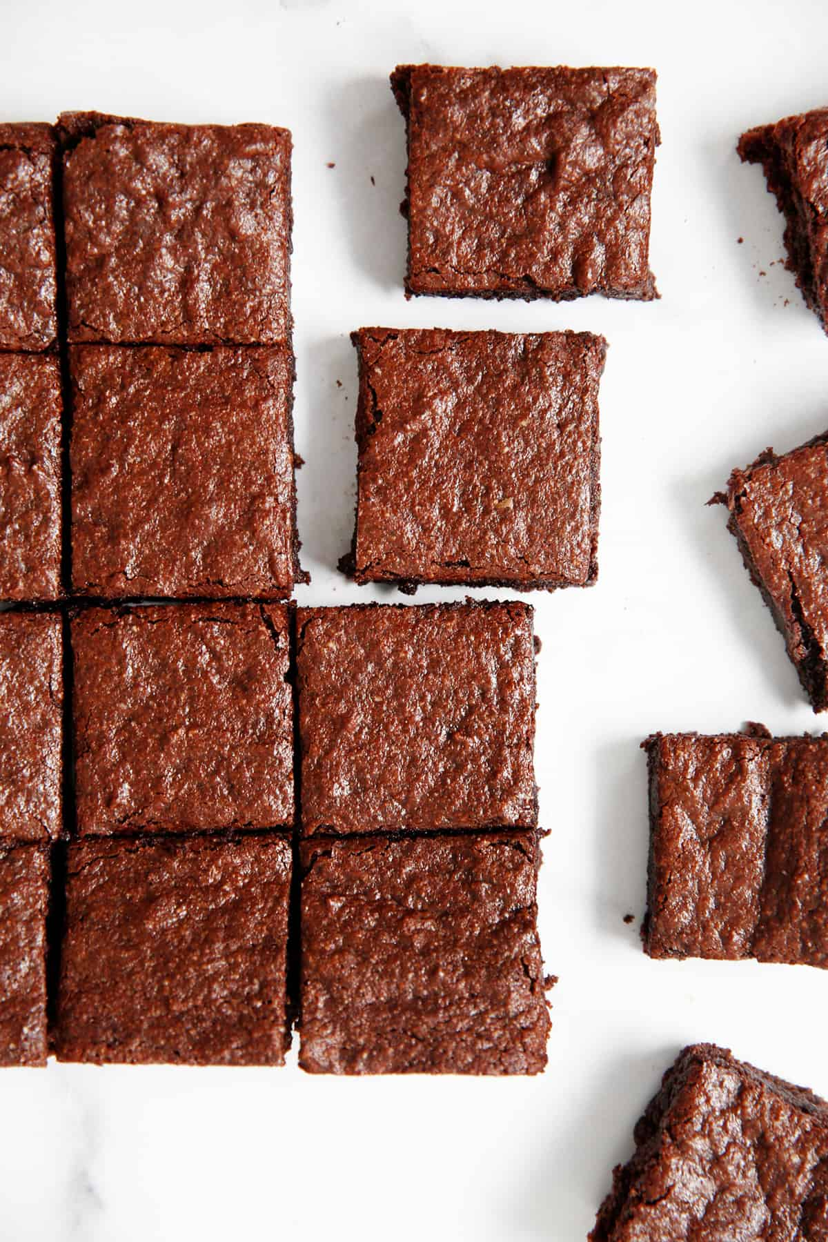 Perfect squares of paleo brownies