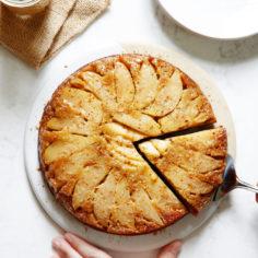 Caramel Apple Upside Down Honey Cake
