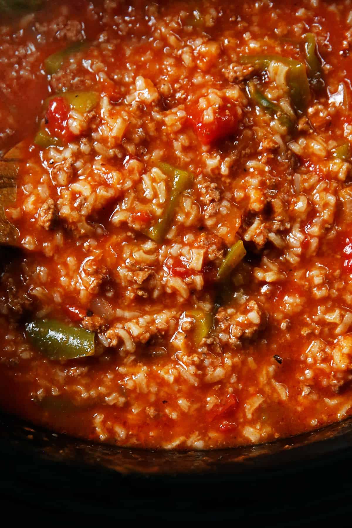 Stuffed pepper soup in crock pot