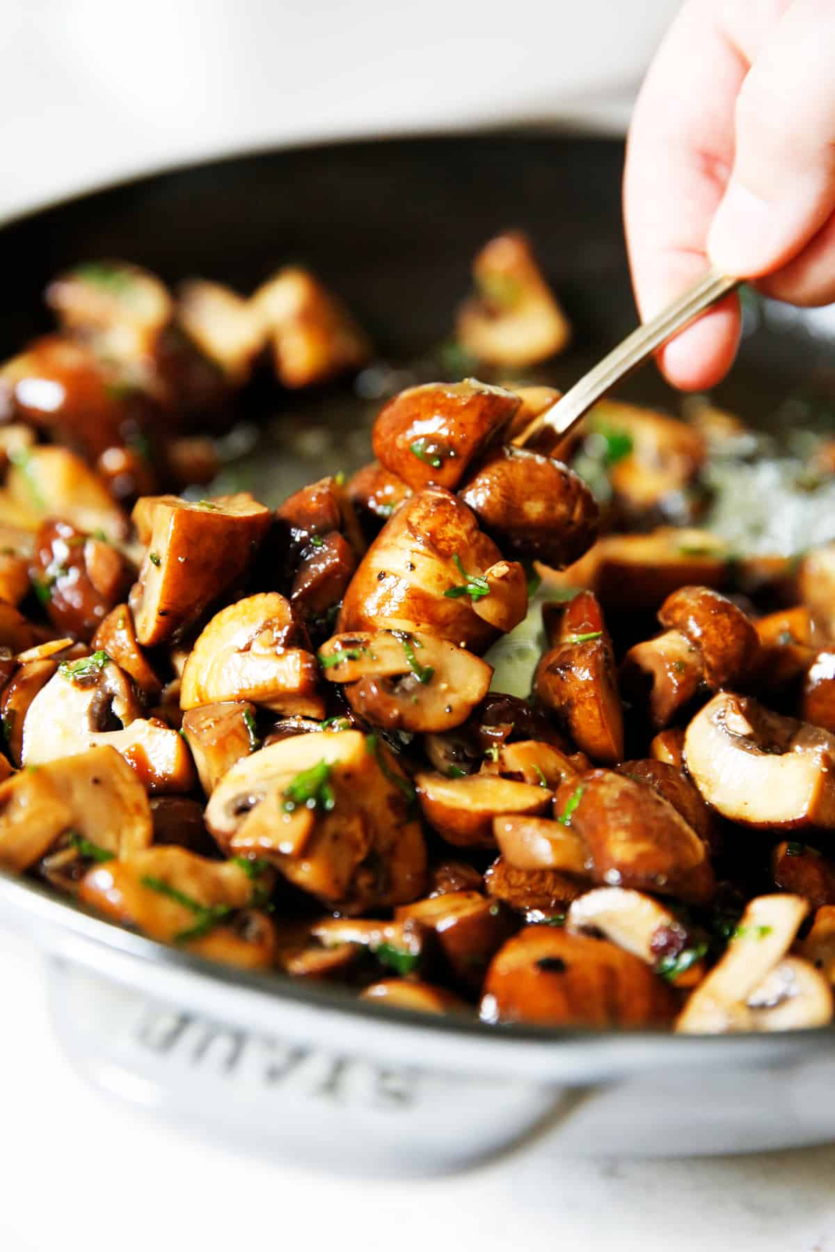 The Ultimate Garlicky Mushroom Side Dish