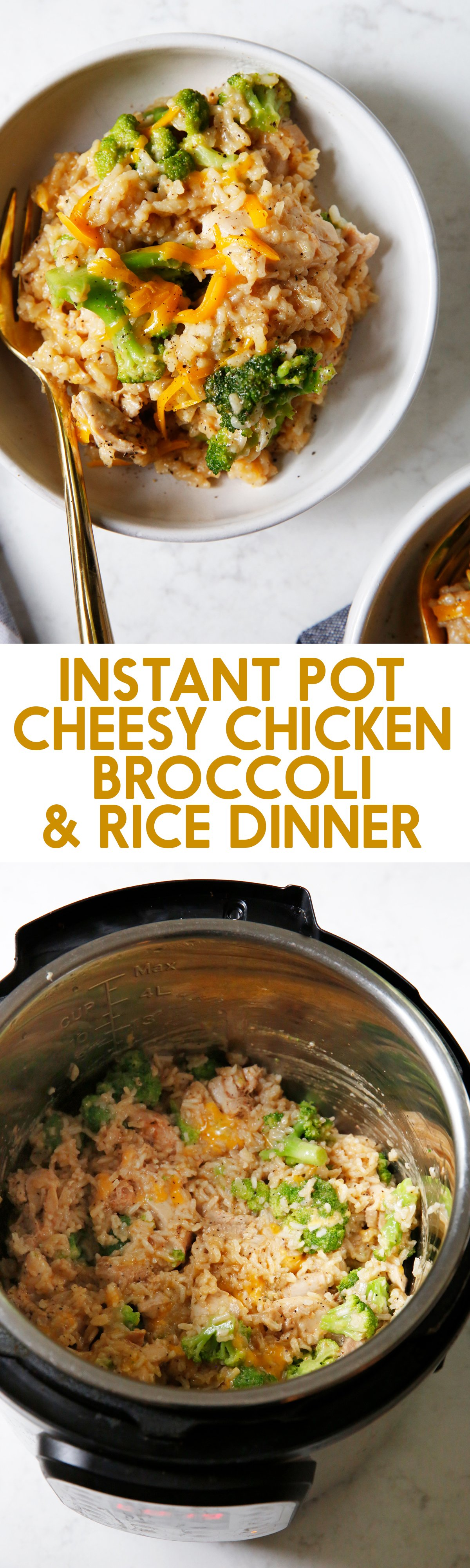 Instant Pot Cheesy Chicken Broccoli And Rice Lexi S Clean Kitchen