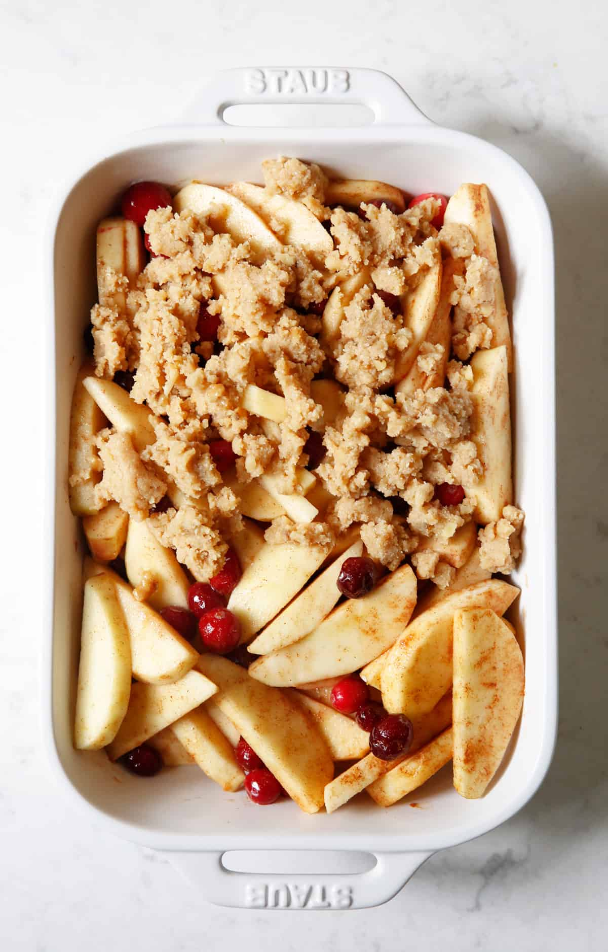 gluten free cranberry apple crisp
