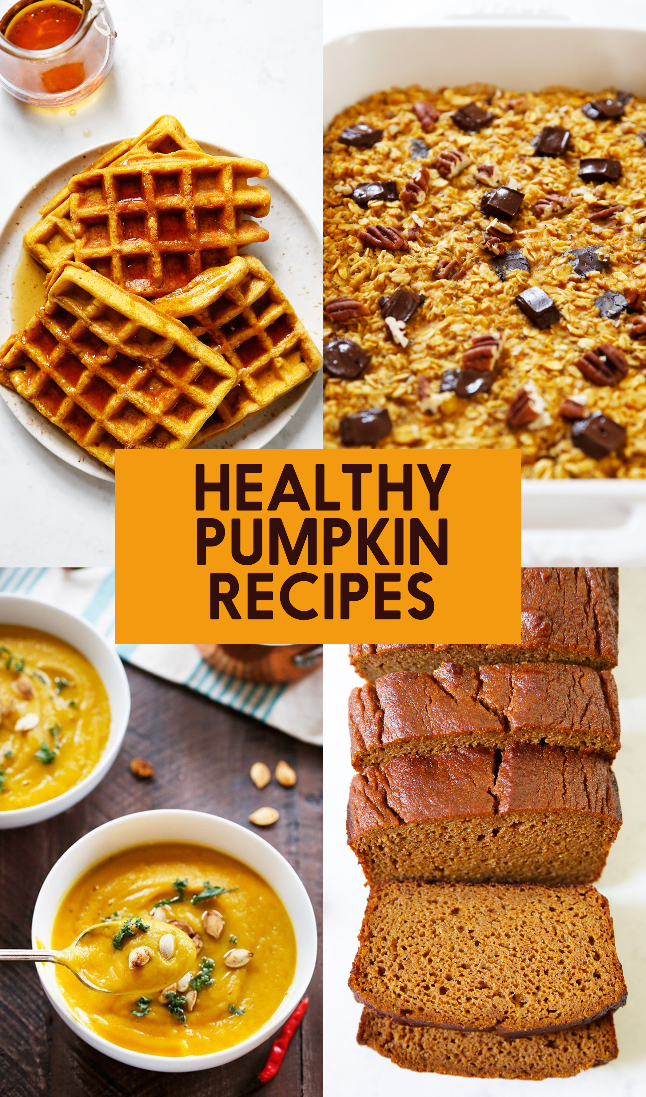 healthy pumpkin recipes graphic