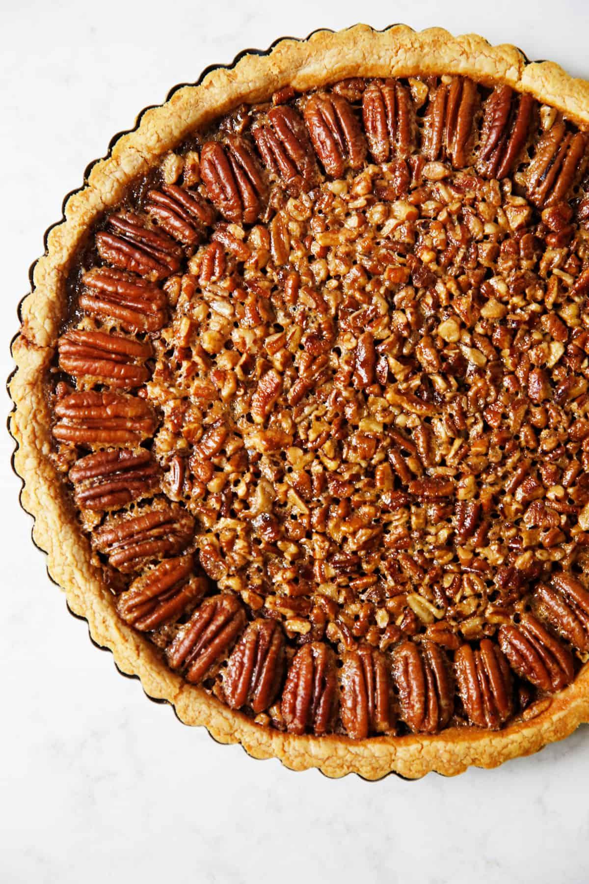 Decorated Gluten Free Pecan Pie