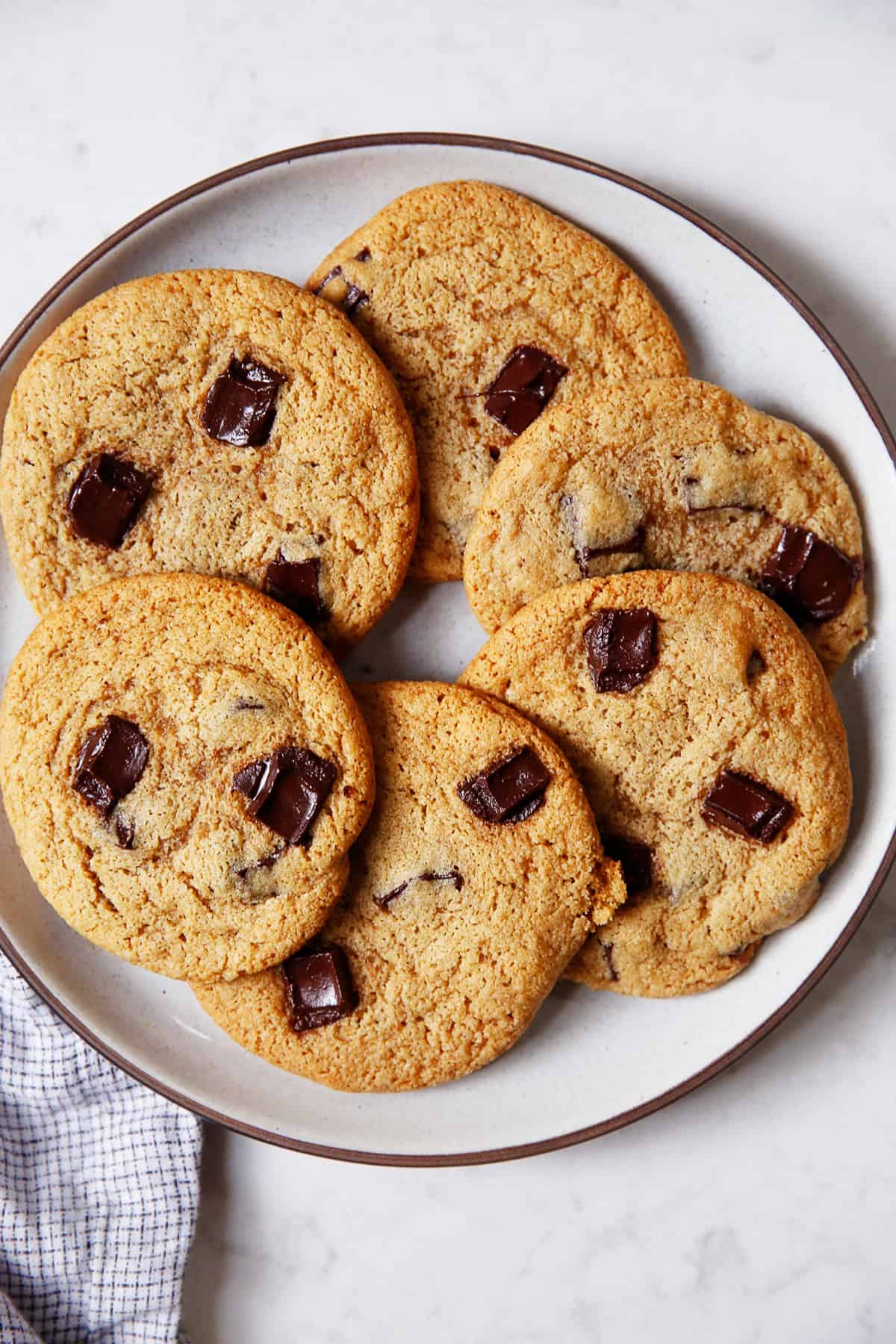 gluten free chocolate chip cookies on a plate