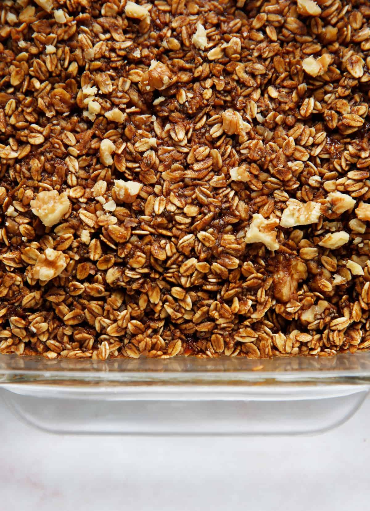 Gingerbread oatmeal casserole