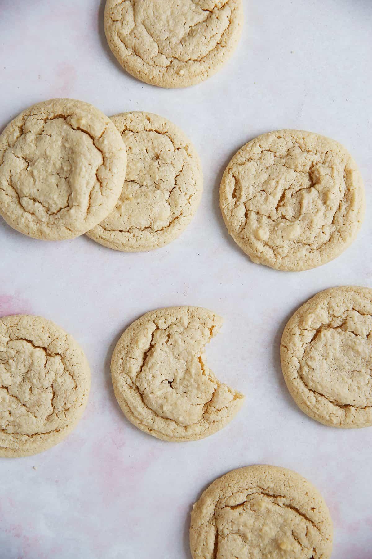 Baked gluten free sugar cookies