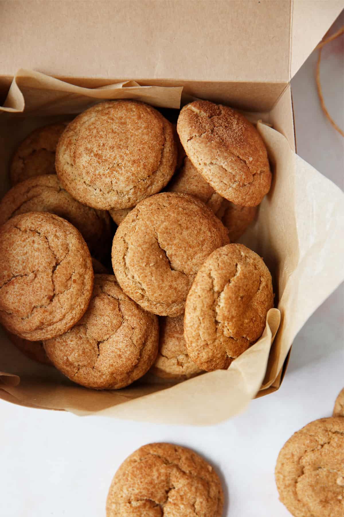 Gluten free snickerdoodle cookie gift box