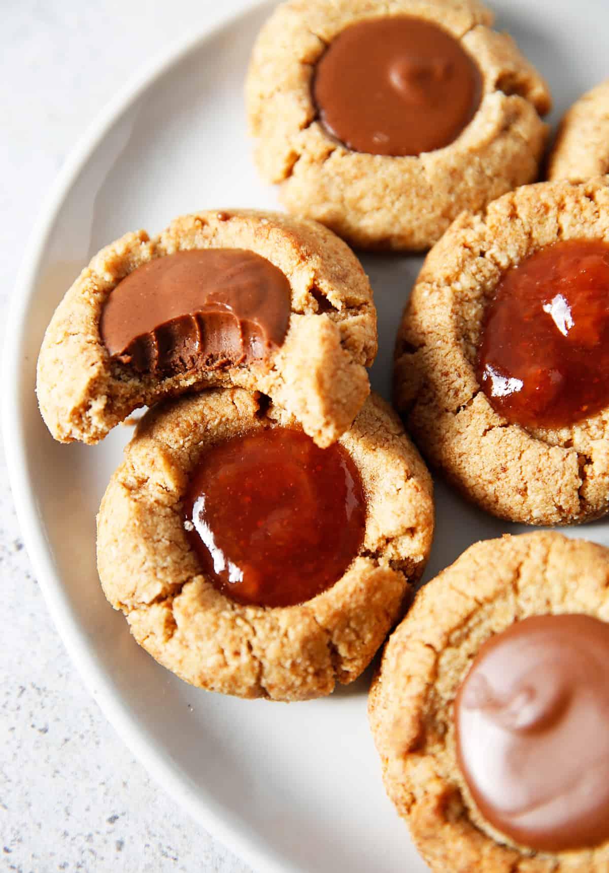 Gluten free thumbprint cookie recipe.