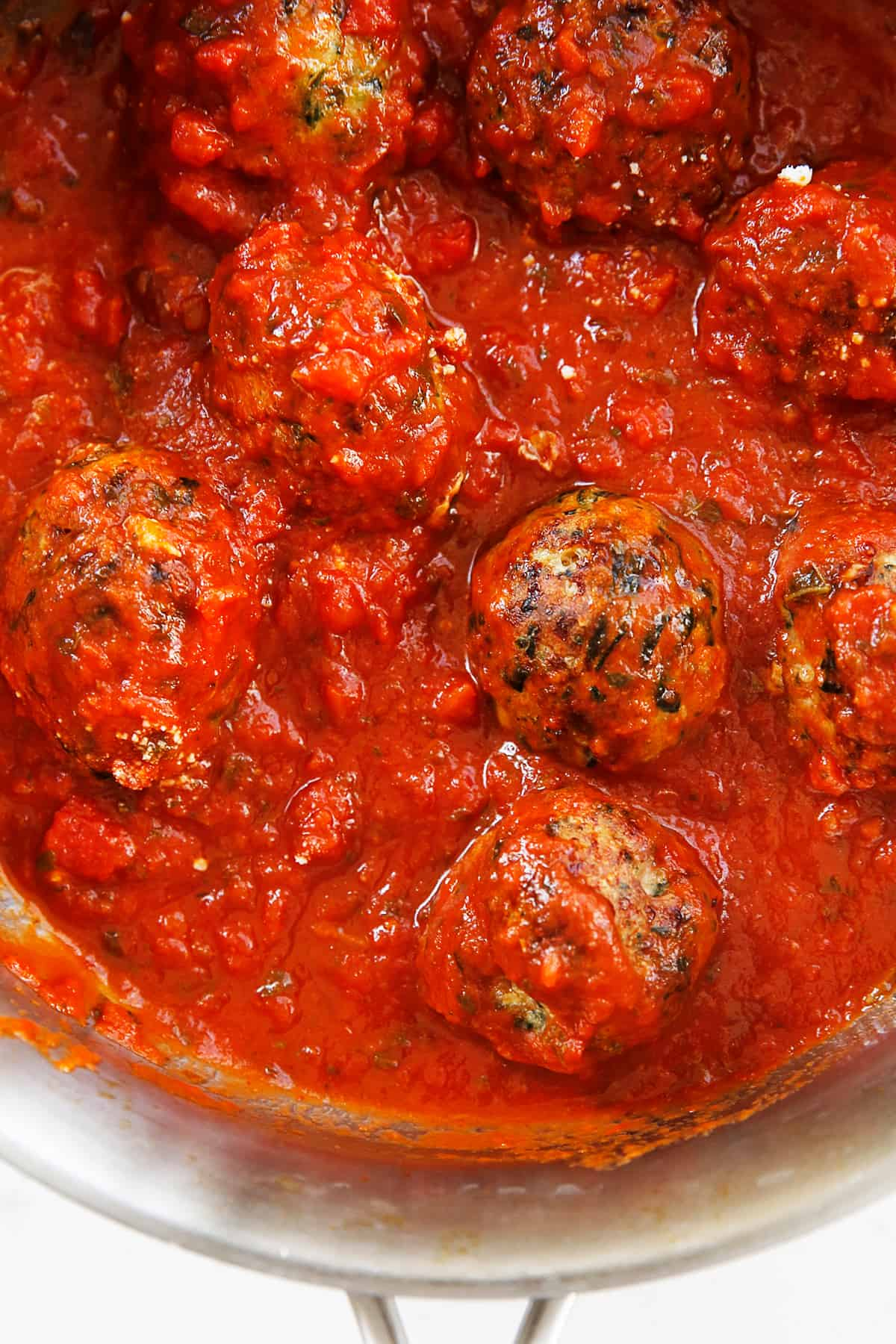 Paleo meatballs made without dairy in a pan