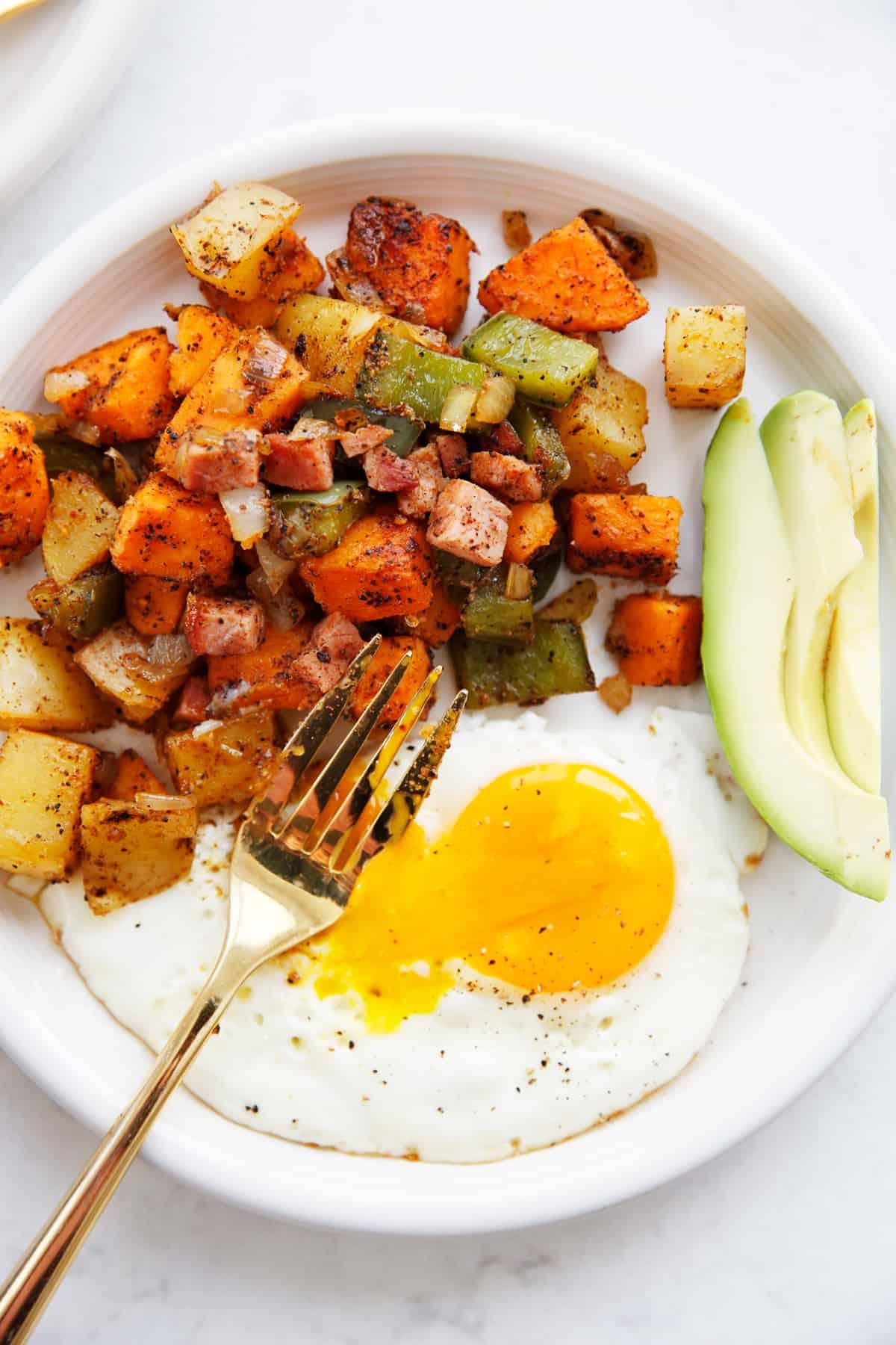 Potato hash with ham