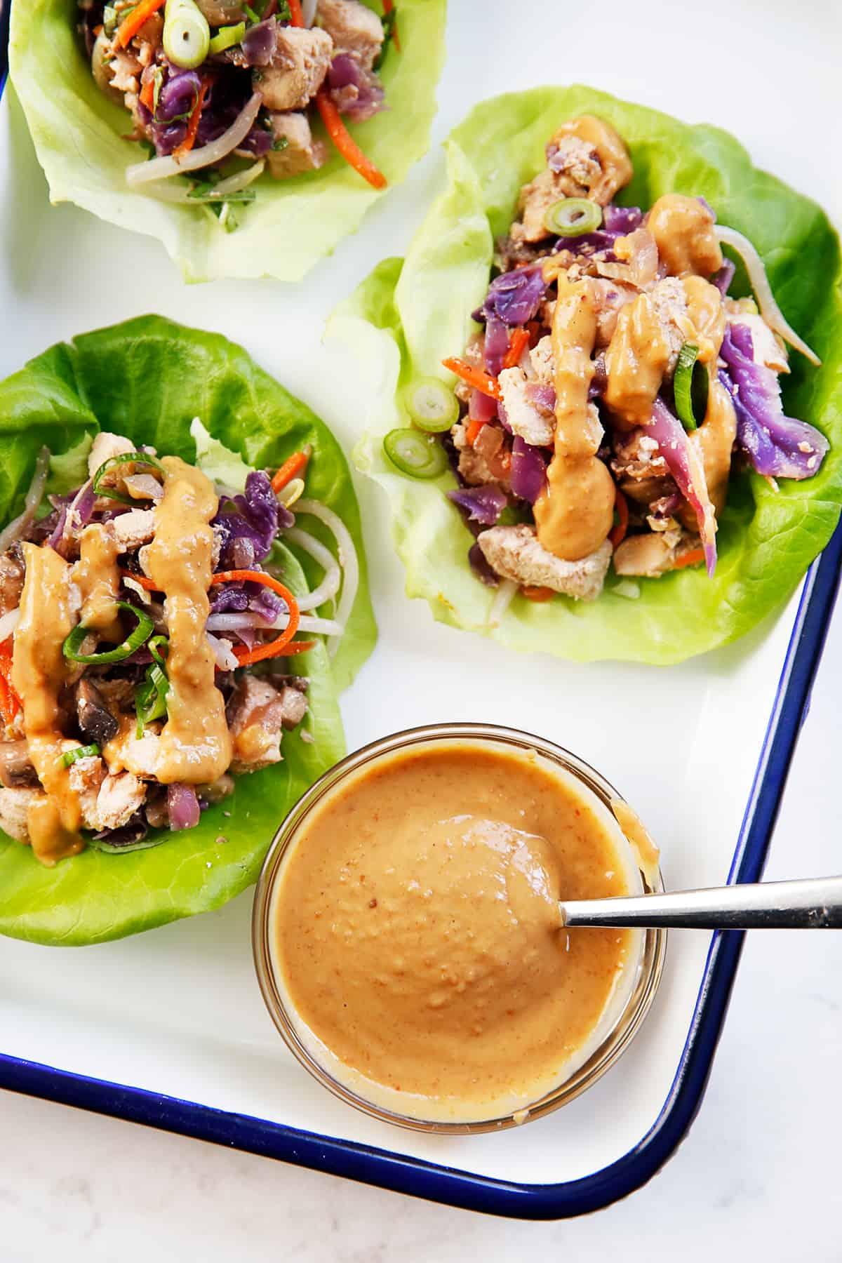 Thai Chicken Lettuce Wraps Lexi S Clean Kitchen