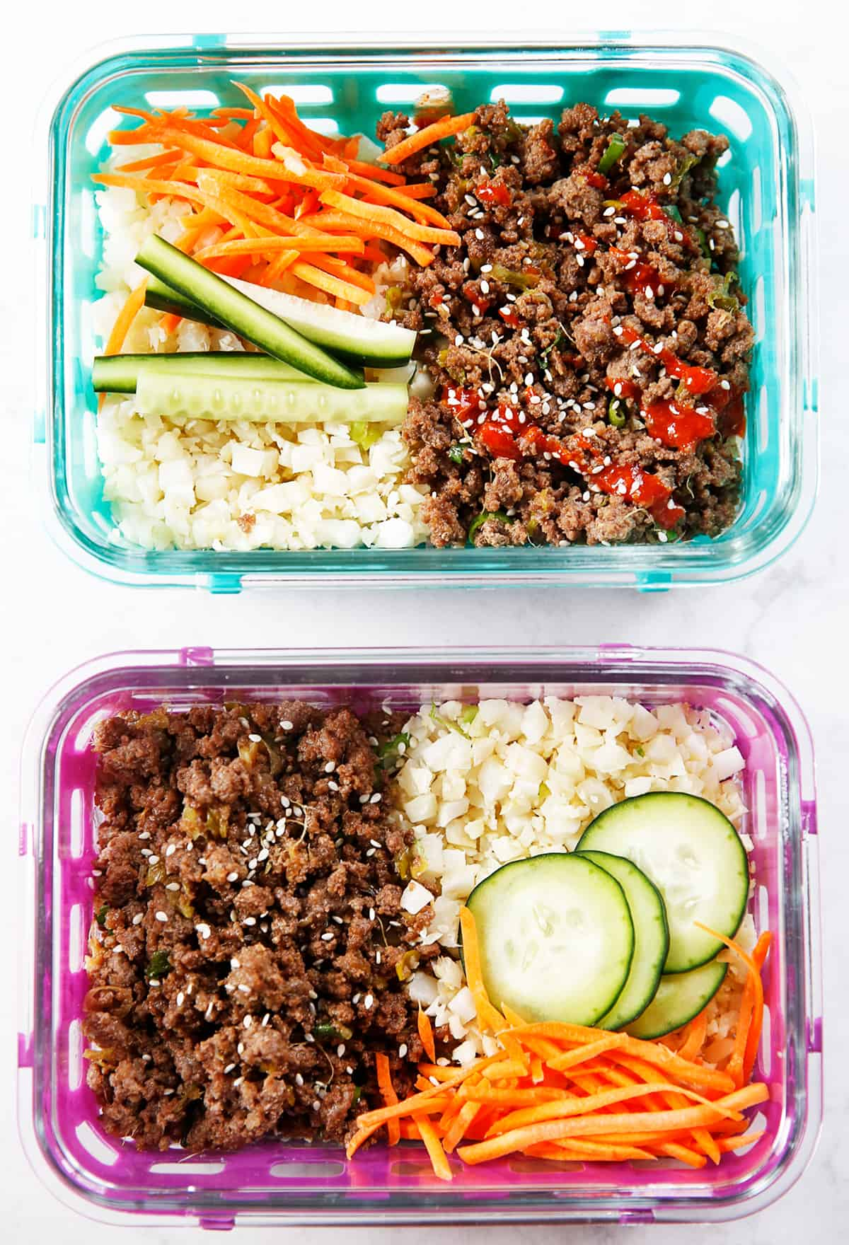 Korean Ground Beef Bowls (Meal Prep!)